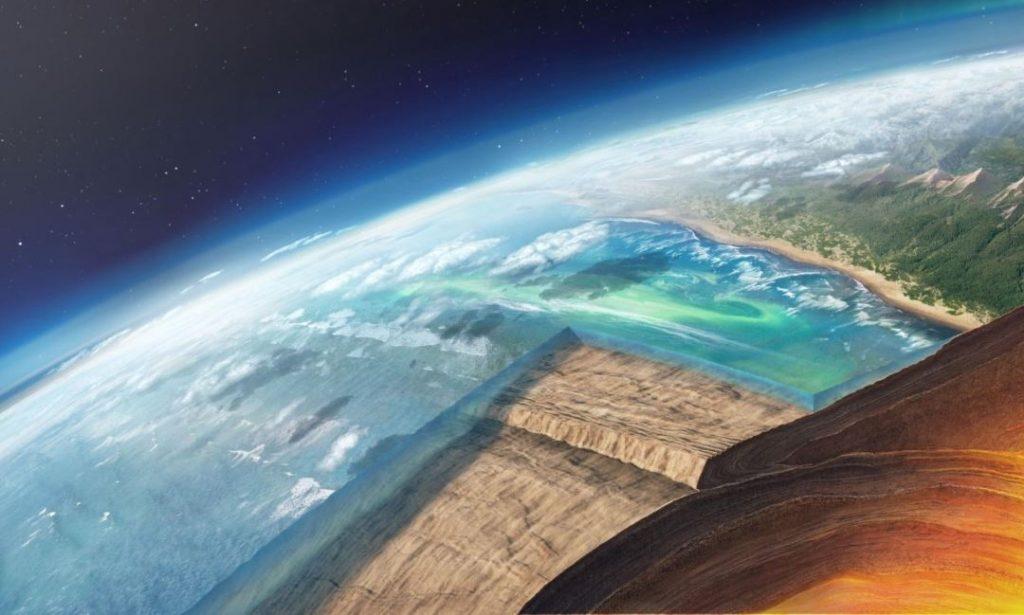 ანომალია ატლანტის ოკეანეში, რომელიც ტექტონიკური ფილების შრეებად დაყოფას იწვევს