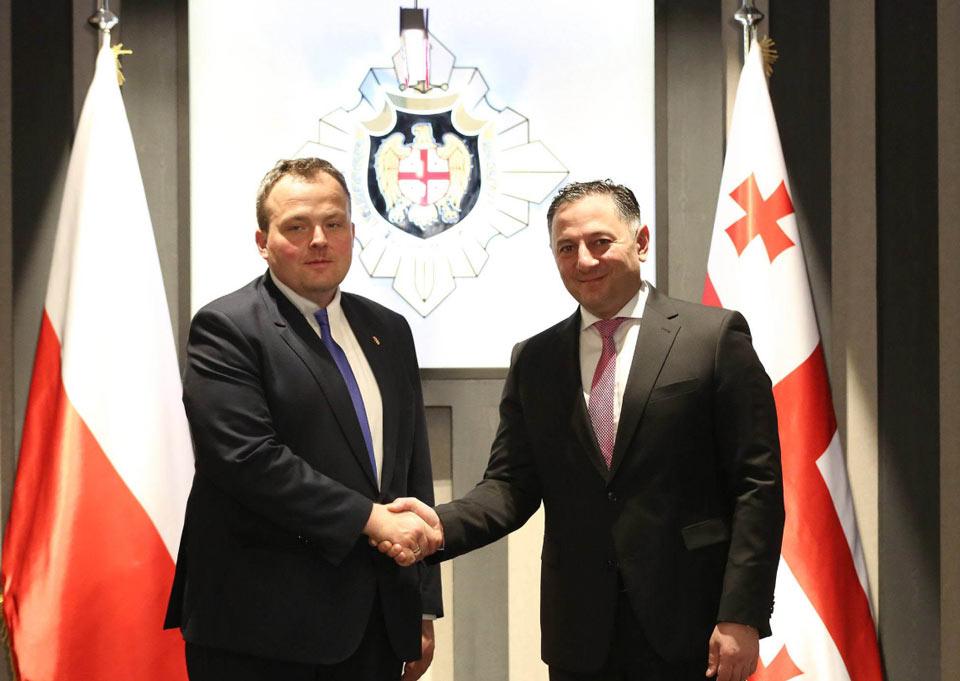 Вахтанг Гомелаури встретился с руководителем Агентства внутренней безопасности Польши