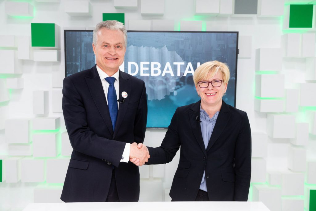 Ingrida Simonyte and Gitanas Nauseda will face in the second round of Lithuania's presidential election