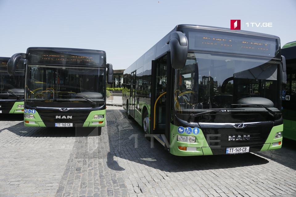 კოტე აფხაზის ქუჩაზე დღეიდან ახალი, მწვანე ავტობუსი იმოძრავებს
