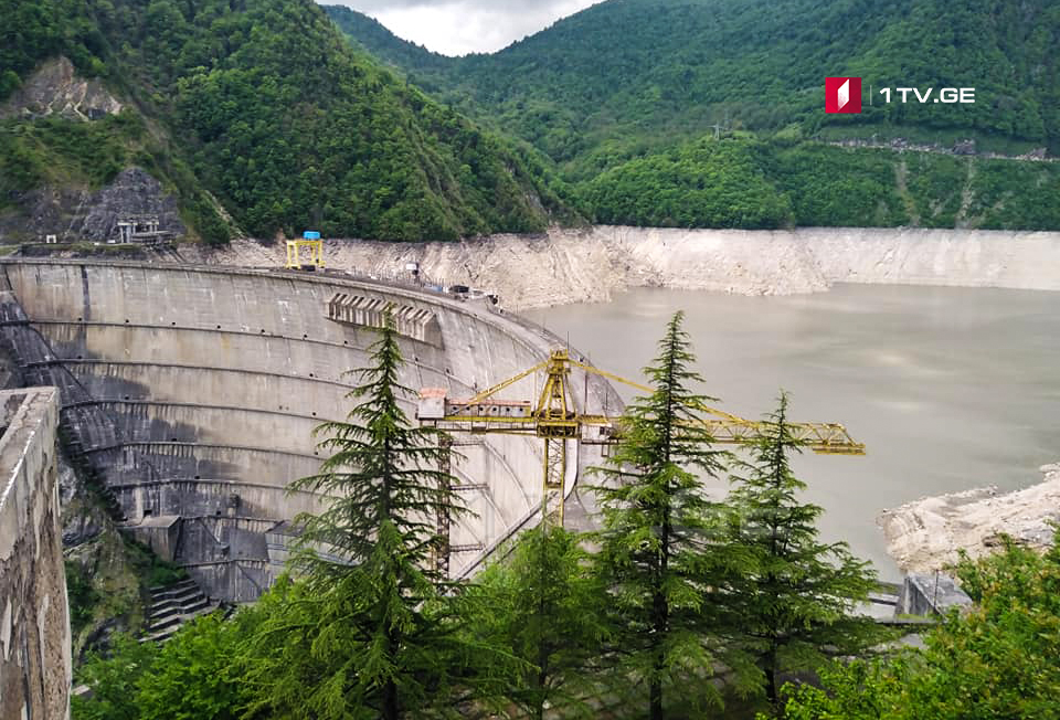 Water level in Enguri Hydro-electric power plant reduced to 439 meters