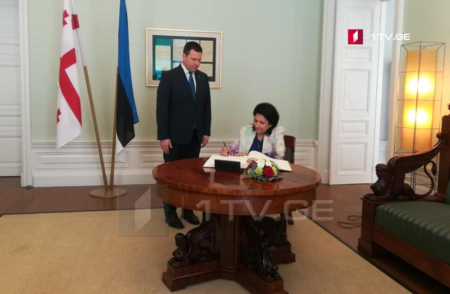 სალომე ზურაბიშვილმა ესტონეთის პრემიერ-მინისტრი ბათუმში დაგეგმილ კონფერენციაზე მიიწვია