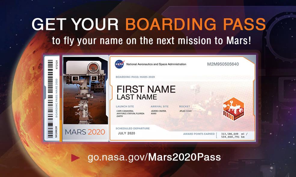 """ბილეთი მარსისკენ - გაგზავნეთ თქვენი სახელი წითელ პლანეტაზე """"ნასას"""" (NASA) შემდეგი მარსმავალით"""