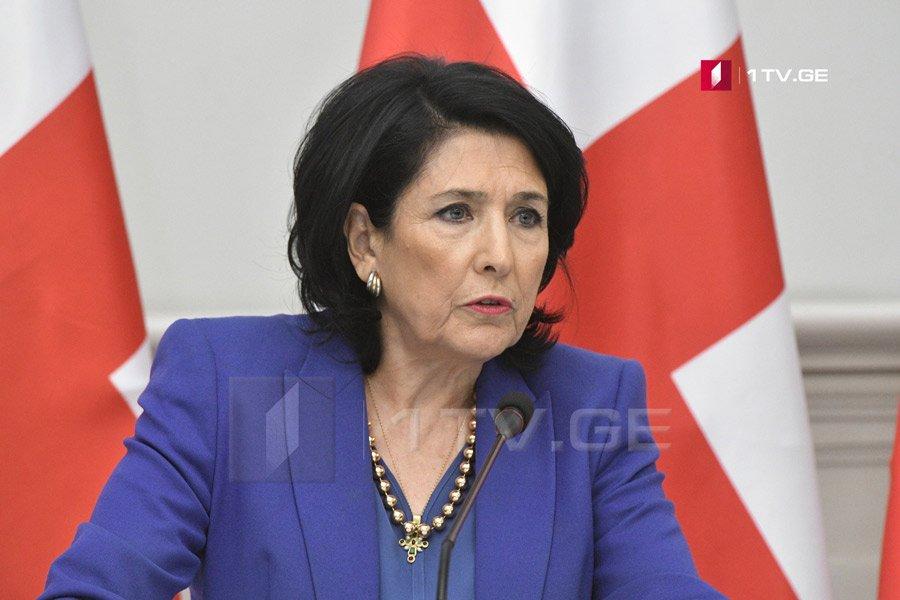 Саломе Зурабишвили - У меня не будет диалога с Путиным, я только напомню, что он нарушил все обязательства