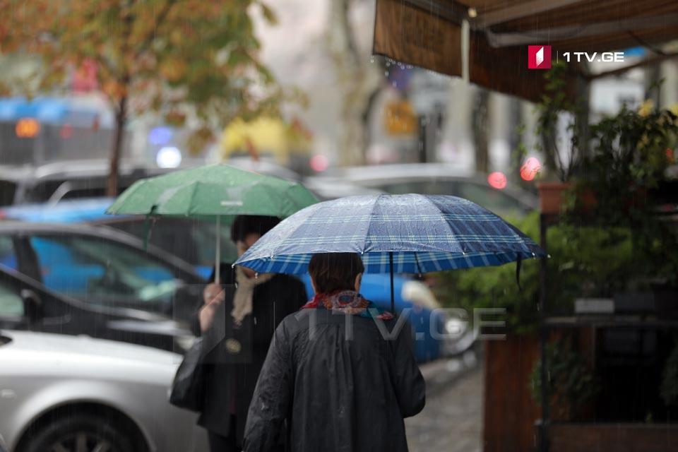 По 27 мая в Грузии ожидается дождливая погода