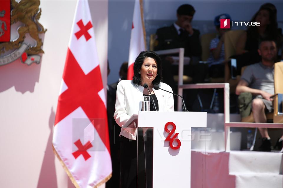 Саломе Зурабишвили - Вся история борьбы за независимость напоминает нам, что это достижение, нуждающееся в постоянной защите