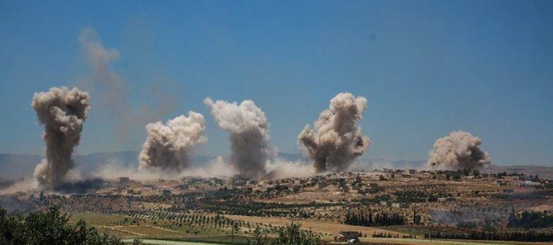 Сирийская правительственная армия бомбит позиции повстанцев в провинции Идлиб