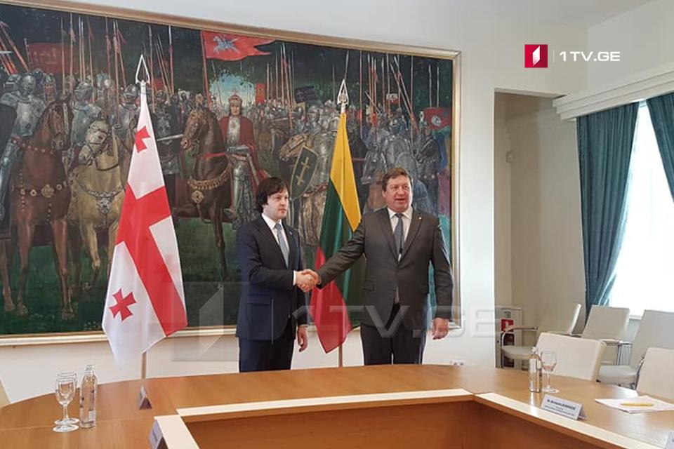 Ираклий Кобахидзе встречается с министром национальной обороны Литвы