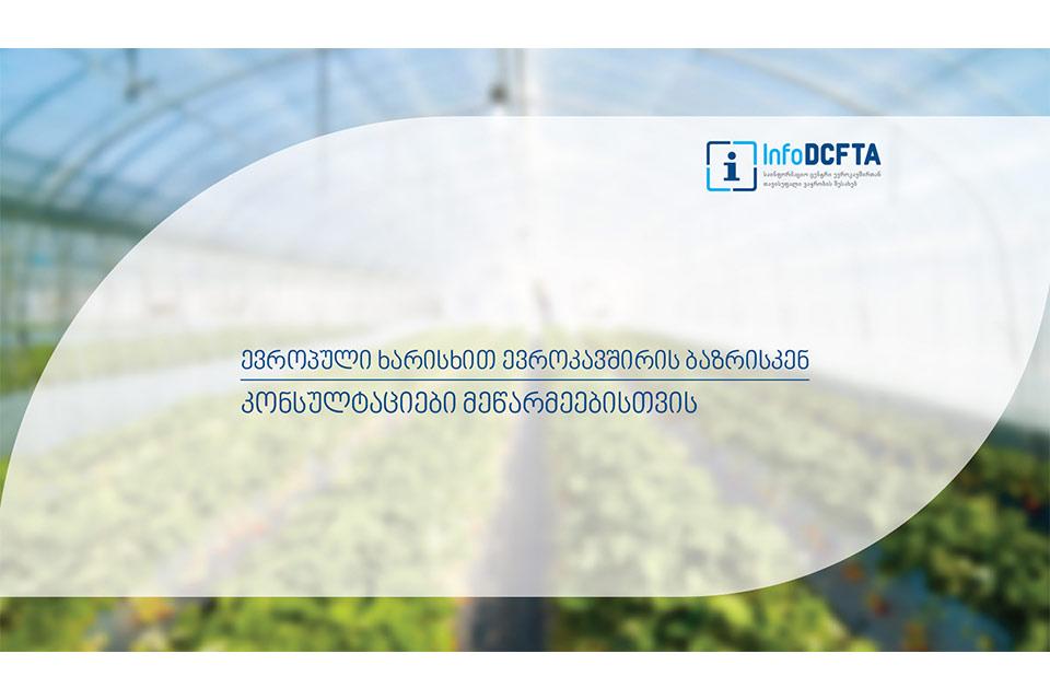 """#სახლისკენ - """"მცირე და საშუალო მეწარმეობის განვითარება და DCFTA საქართველოში"""""""