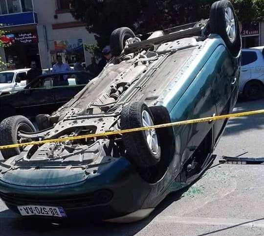 ზუგდიდში ავტოსაგზაო შემთხვევის შედეგად ორი პირი დაშავდა