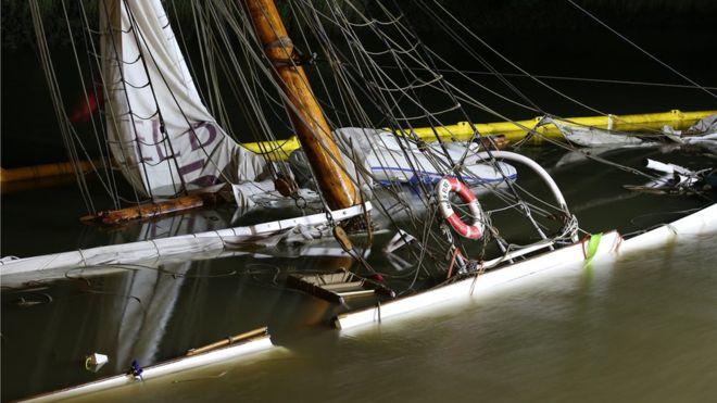 Корабль XIX века, на реставрацию которого было потрачено 1,5 млн. евро, затонул в реке Эльбе