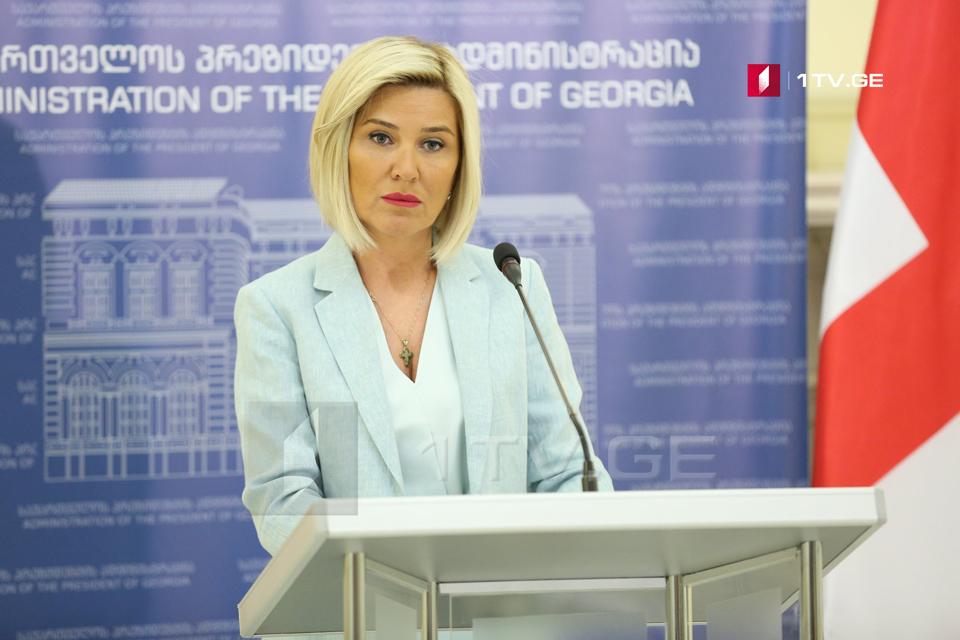 Хатия Моисцрапишвили больше не занимает пост пресс-спикера президента