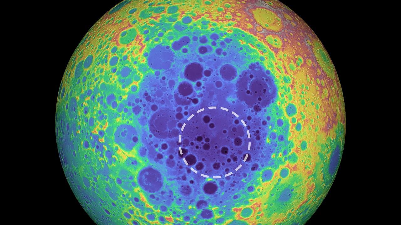 მთვარის უდიდესი კრატერის ქვეშ უზარმაზარი მასის ანომალია აღმოაჩინეს