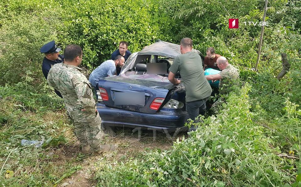 სოფელ აღაიანთან ავტოავარიის შედეგად, სამი ადამიანი დაშავდა, მათ შორის ბავშვი