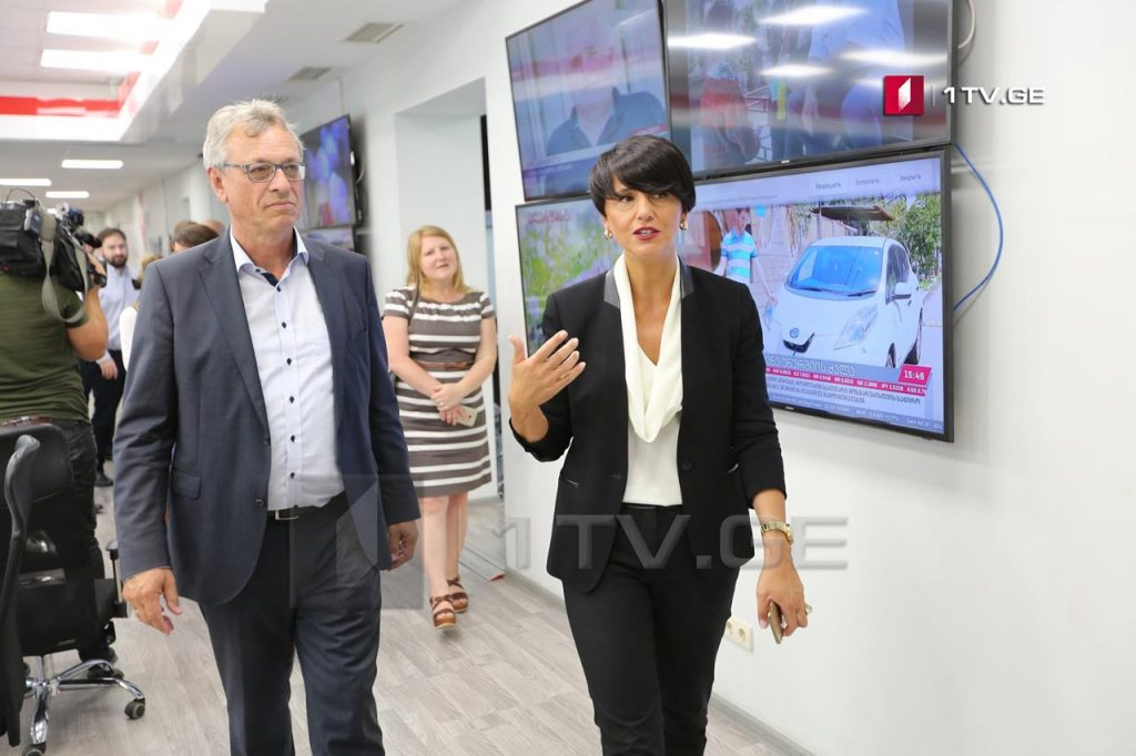 Representative of Bavarian Regulatory Authority for New Media visited Georgian First Channel