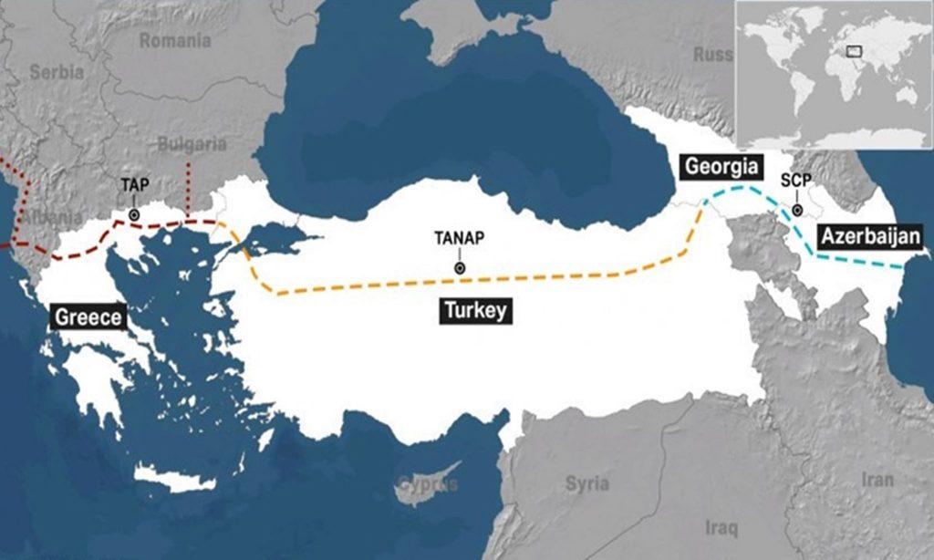 Վրաստանի և Թուրքիայի սահմանները անցնելով ադրբեջանական գազը հասել է Հունաստան