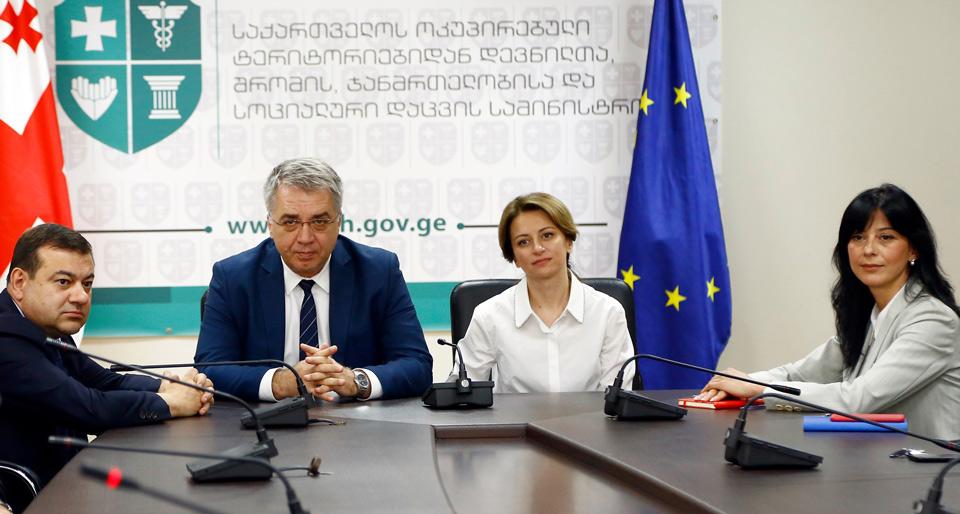 Новый министр здравоохранения Екатерина Тикарадзе встретилась с руководящими лицами ведомства