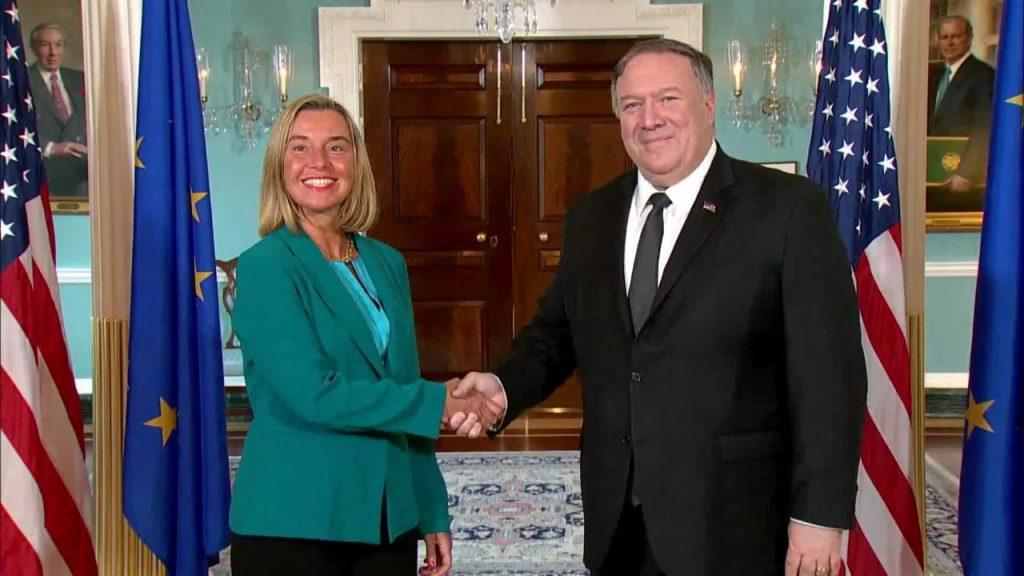 მაიკ პომპეომ და ფედერიკა მოგერინიმ შეხვედრაზე უკრაინის, რუსეთის და ირანის საკითხები განიხილეს
