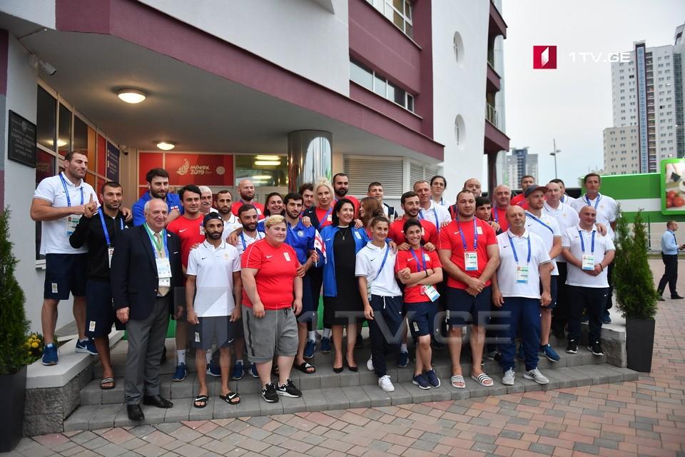 Саломе Зурабишвили пожелала успехов членам олимпийской сборной | Минск 2019