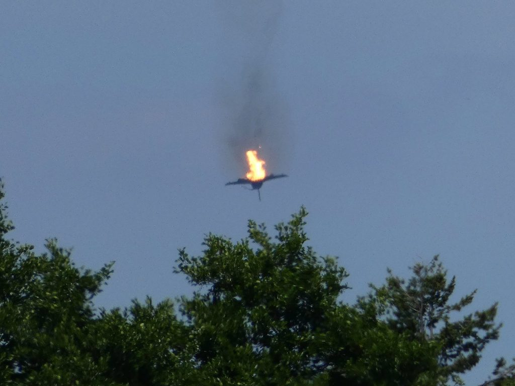 გერმანიაში ორი ავიაგამანადგურებლის შეჯახების შედეგად ერთი მფრინავი დაიღუპა