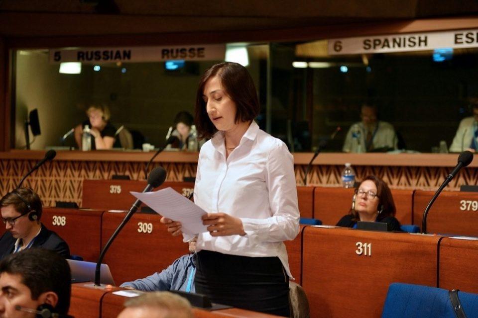 ნინო გოგუაძემ ევროსაბჭოს საპარლამენტო ასამბლეაზე რუსეთის დელეგაციის უფლებამოსილების გასაჩივრების საკითხი დააყენა
