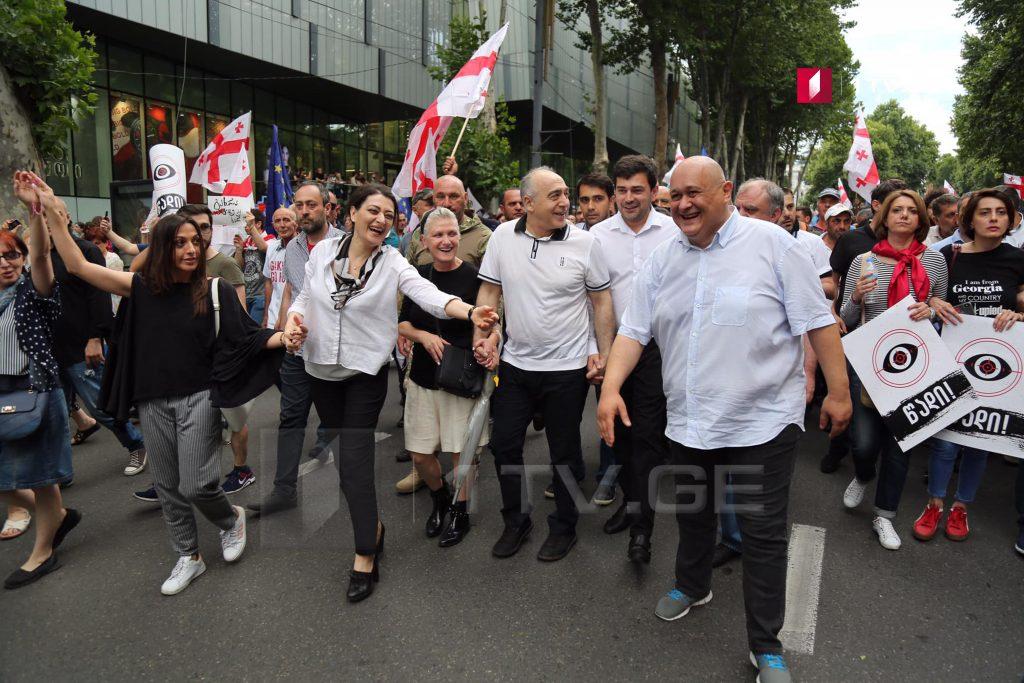 """Участники """"Марша Свободы"""" пришли на площадь Свободы (фото)"""