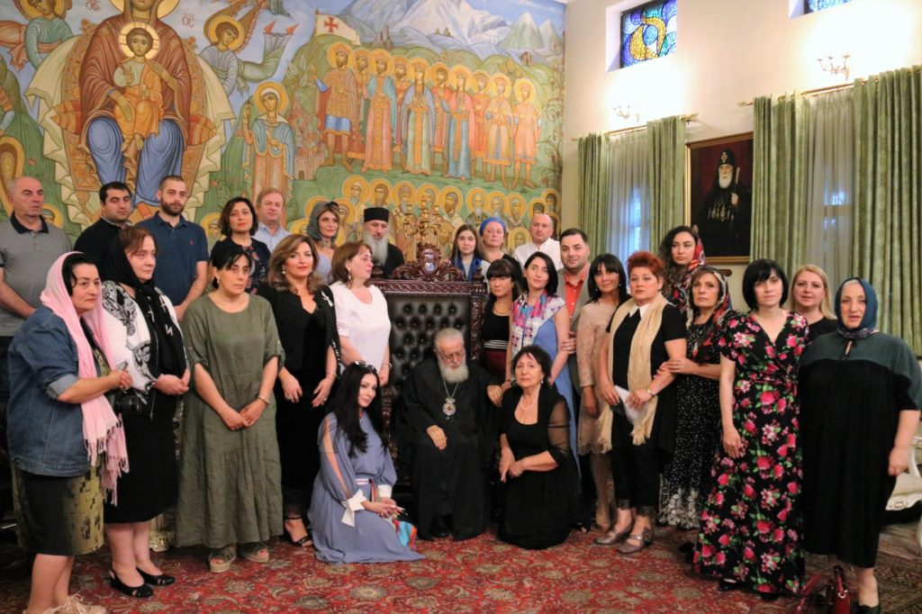 Илия Второй принял грузинских эмигрантов