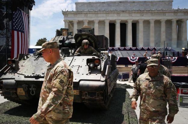 დონალდ ტრამპის განკარგულებით, დამოუკიდებლობის დღეს ვაშინგტონში მასშტაბური სამხედრო აღლუმი გაიმართება