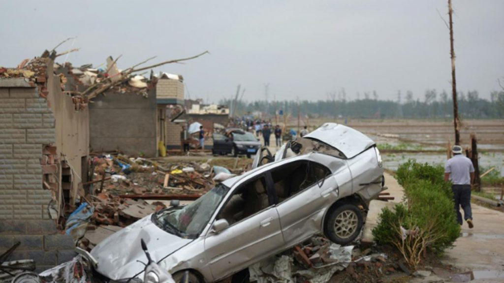 ჩინეთში ტორნადოს შედეგად ექვსი ადამიანი დაიღუპა, 190 კი დაშავდა