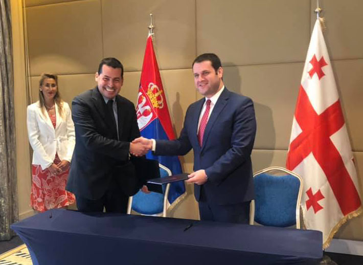 საქართველოსა და სერბეთს შორის სავაჭრო-ეკონომიკური თანამშრომლობის შესახებ დოკუმენტი გაფორმდა