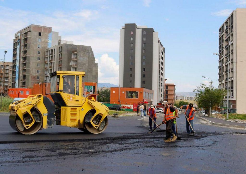 დიდ დიღომში, არჩილ მეფის ქუჩაზე სარეაბილიტაციო სამუშაოები სრულდება