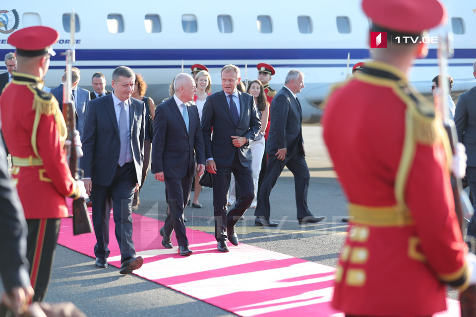 საქართველოს ევროპული საბჭოს პრეზიდენტი დონალდ ტუსკი ეწვია