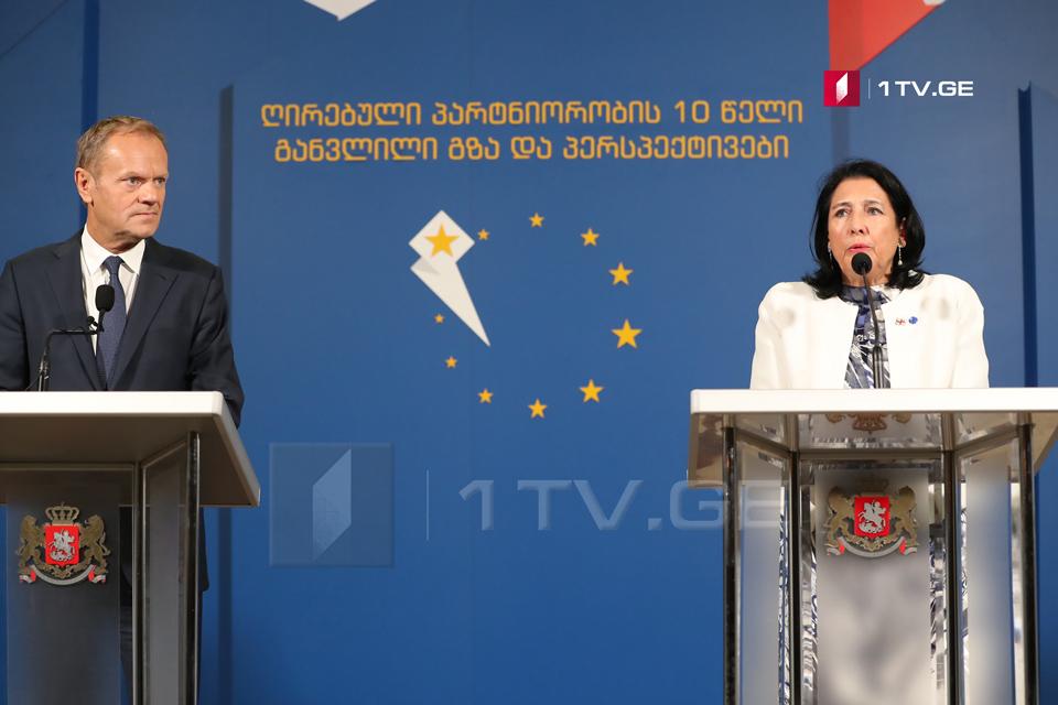 Դոնալդ Տուսկ. Վրաստանը Եվրամիության համար կարևոր գործընկեր է