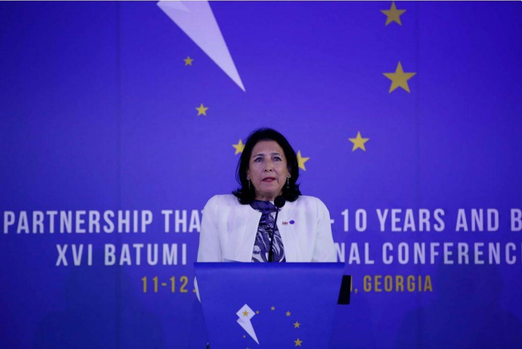 სალომე ზურაბიშვილი - მოგესალმებით არა როგორც პროევროპული, არამედ ამაყი ევროპელი ერის პრეზიდენტი