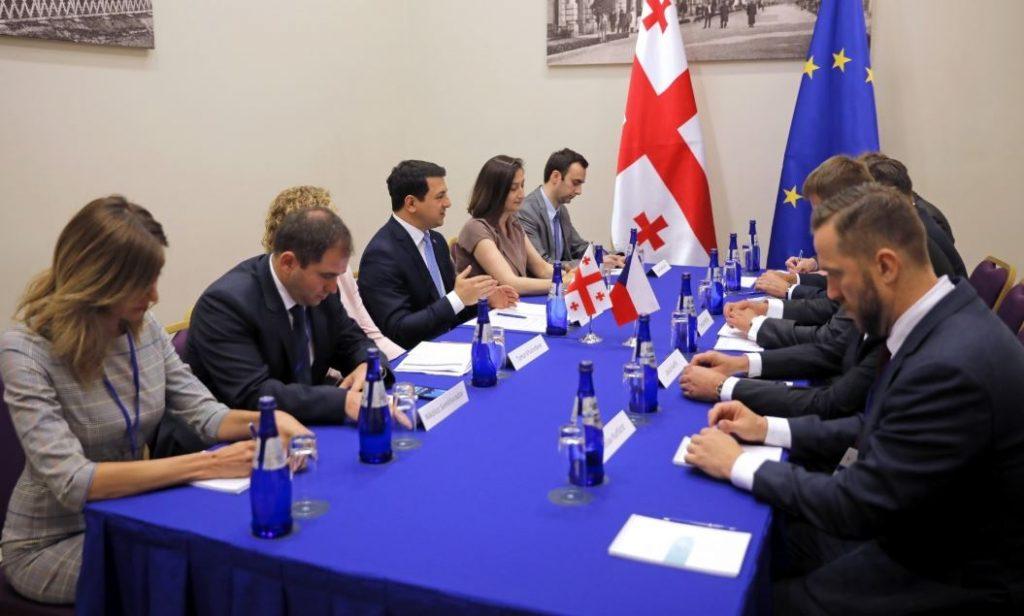 Archil Talakvadze met Minister ofForeign Affairsof theCzechRepublic