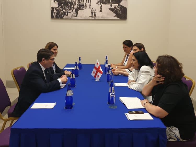 Саломе Зурабишвили встретилась с вице-президентом EBRD
