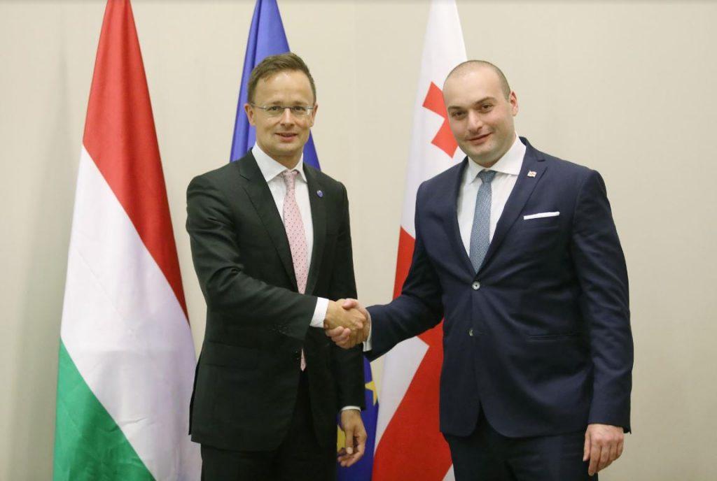 Мамука Бахтадзе и Петер Сийярто обсудили начало новыго этапа экономических отношений между Грузией и Венгрией