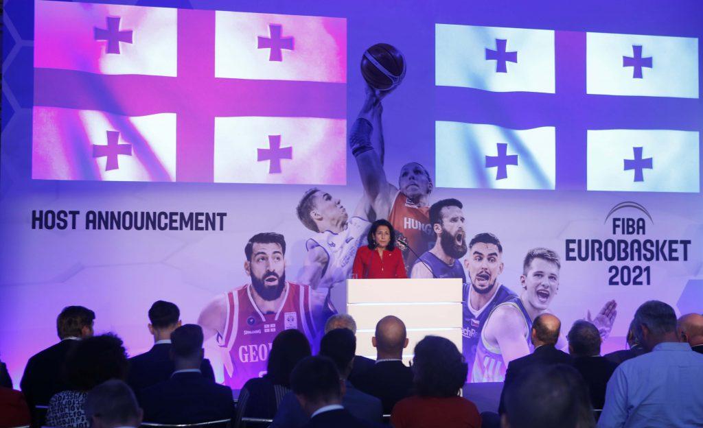 სალომე ზურაბიშვილი მიუნხენში FIBA ევროპის ბორდის წინაშე მოხსენებით გამოვიდა და საქართველოს შესახებ ვიდეორგოლი წარადგინა