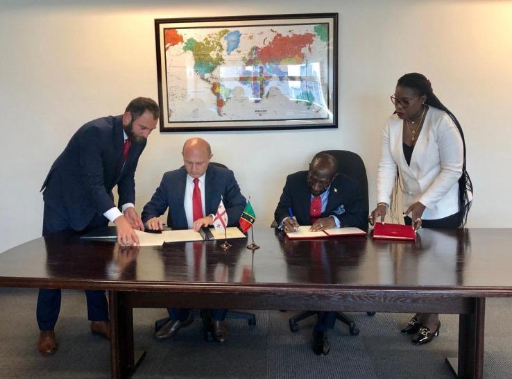 Грузия и Сент-Китс и Невис подписали соглашение об отмене визового режима