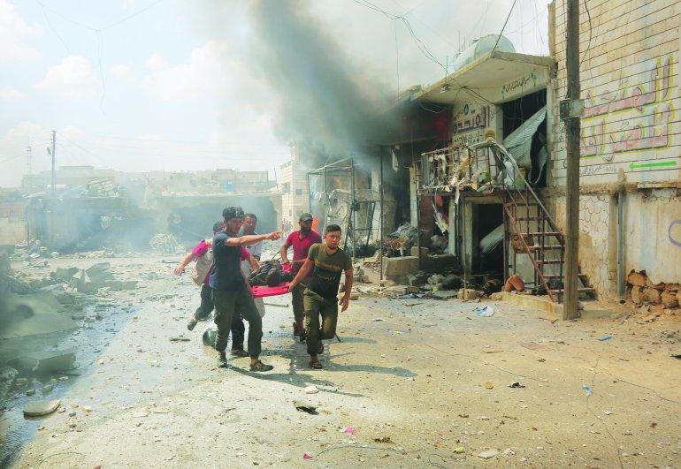 სირიაში ბაზარზე განხორციელებული ავიაიერიშის შედეგად 12 ადამიანი დაიღუპა