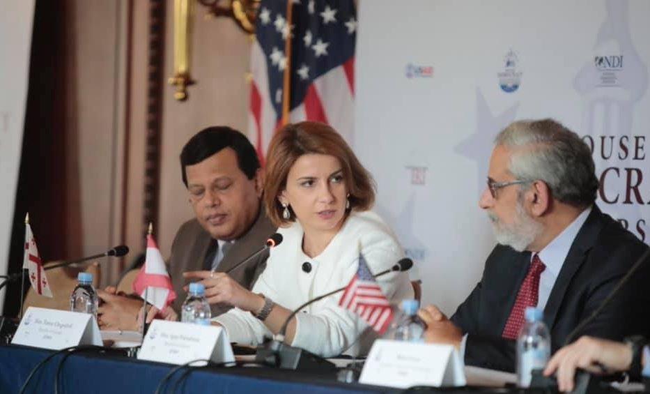 თამარ ჩუგოშვილმა აშშ-ის კონგრესის დემოკრატიული პარტნიორობის ლიდერთა ფორუმზე პოლიტიკური პოლარიზაციის შესახებ ისაუბრა
