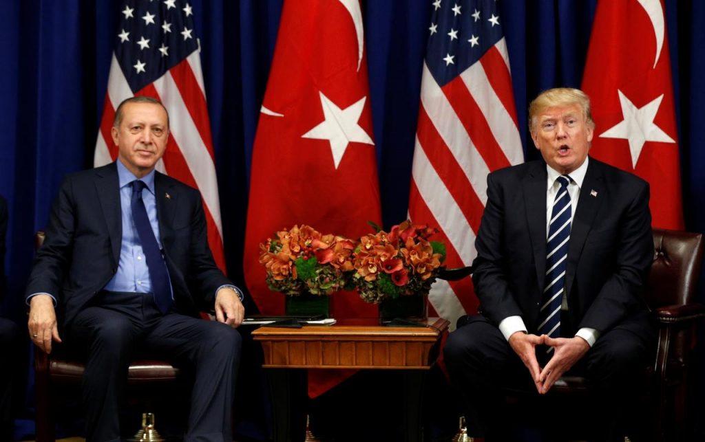 დონალდ ტრამპი აცხადებს, რომ აშშ თურქეთისთვის სანქციების დაწესებას ამ ეტაპზე არ განიხილავს