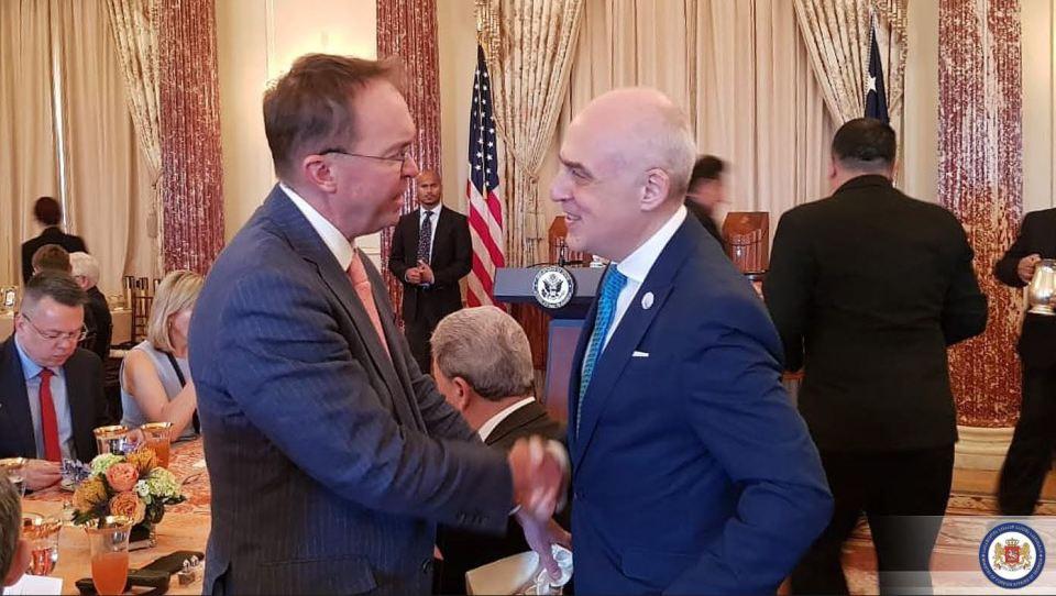 დავით ზალკალიანმა თეთრი სახლის ადმინისტრაციის უფროსთან საქართველო-აშშ-ის ურთიერთობები განიხილა
