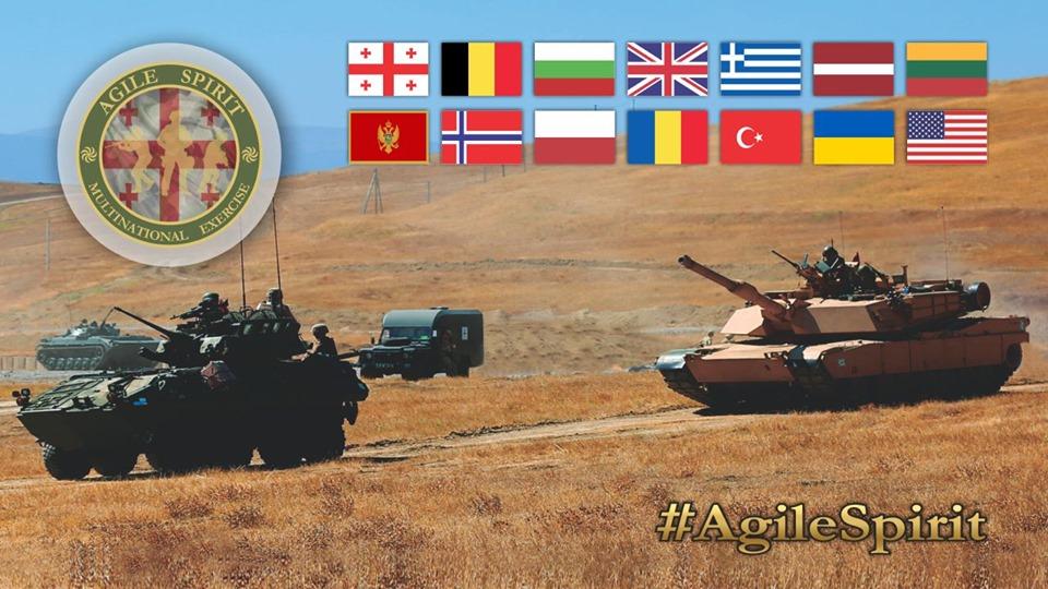 В Грузии пройдут многонациональные военные учения Agile Spirit 2019