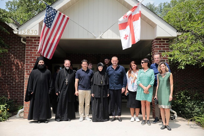 Archil Talakvadze visited St. Nino Monastery in Maryland