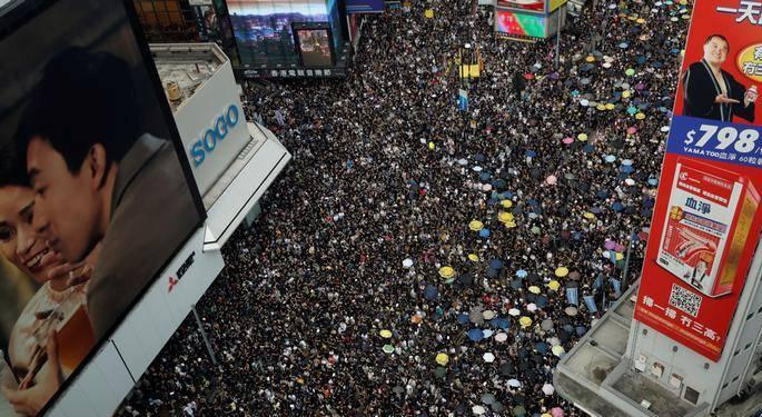 ჰონგ-კონგში ექსტრადირების შესახებ კანონპროექტის წინააღმდეგ მორიგი დემონსტრაცია იმართება