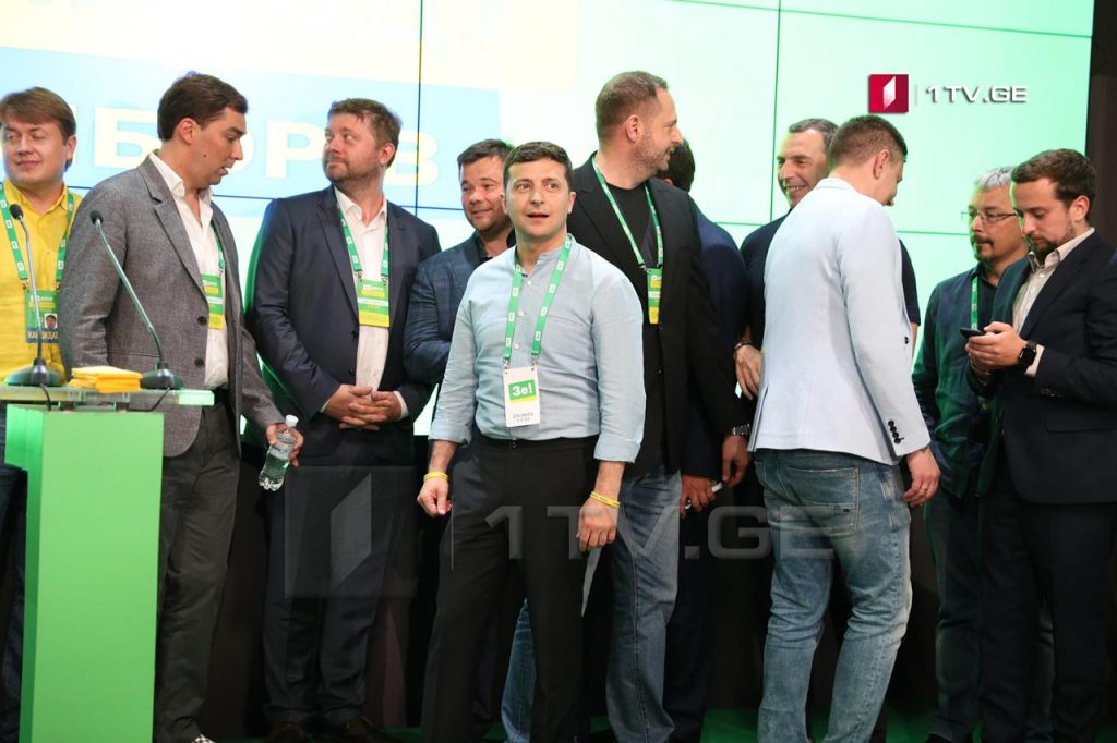 Volodymyr Zelenskiy's party won at polling station opened in Georgia