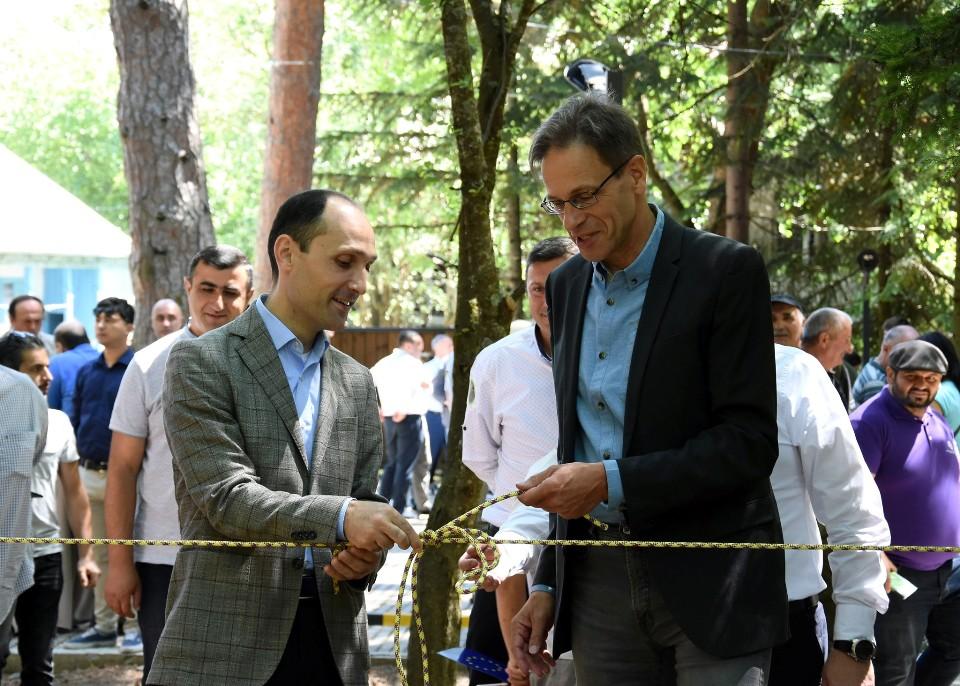 """ალგეთის ეროვნულ პარკში ვიზიტორთა ახალი ცენტრი და """"თოკების პარკი"""" გაიხსნა"""