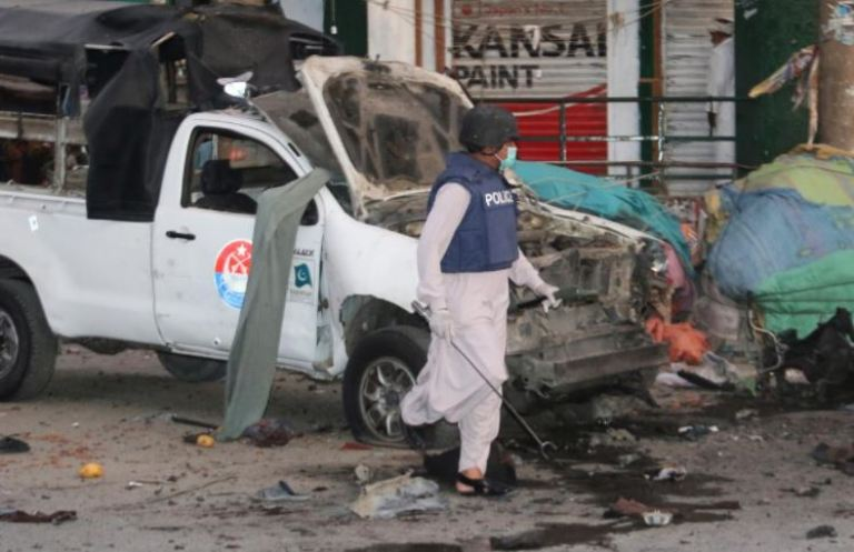 პაკისტანში ტერაქტის შედეგად ხუთი ადამიანი დაიღუპა