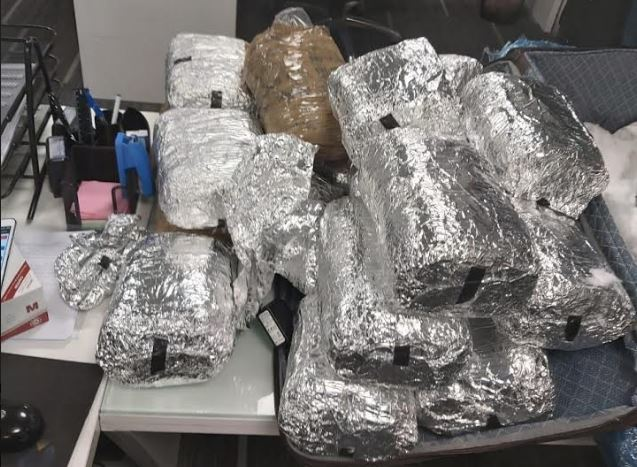 Police seize 20 kg marijuana from foreign citizen's handbag at Tbilisi Airport